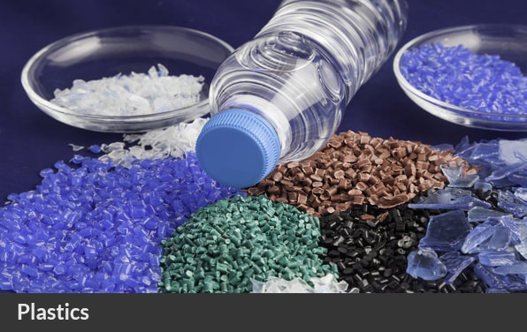 Plastic bottle with HDPE and PET flakes and pellets recycled recycling