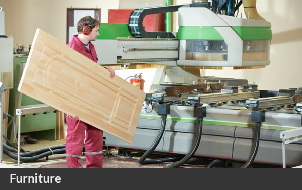 worker in factory manufacturing furniture in Ireland